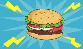 Ilustración de la hamburguesa Imágenes de archivo libres de regalías