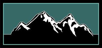 Ilustración de la insignia de la montaña stock de ilustración