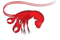 Ilustración de la langosta Foto de archivo libre de regalías