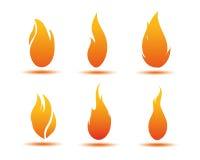 Ilustración de la llama libre illustration