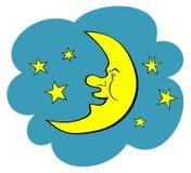Ilustración de la luna. JPG y EPS Imágenes de archivo libres de regalías