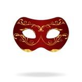 Ilustración de la máscara realista del carnaval o del teatro Imagenes de archivo