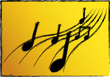 Ilustración de la música Imagen de archivo libre de regalías