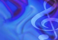 Ilustración de la música del Clef agudo ilustración del vector