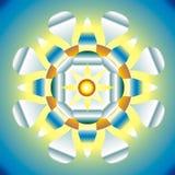 Ilustración de la mandala esotérica Imagen de archivo