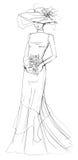 Ilustración de la manera de la novia Fotografía de archivo