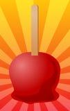 Ilustración de la manzana de caramelo Fotografía de archivo