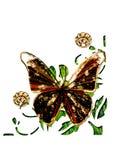 Ilustración de la mariposa Fotos de archivo