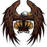 Ilustración de la mascota de las alas y de las garras del águila stock de ilustración