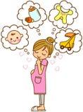 Ilustración de la maternidad Imagen de archivo libre de regalías