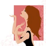 Ilustración de la muchacha Foto de archivo libre de regalías