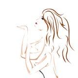 Ilustración de la muchacha Fotografía de archivo libre de regalías