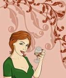 Ilustración de la muchacha Foto de archivo