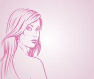 Ilustración de la muchacha de la manera Fotos de archivo