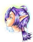 Ilustración de la muchacha del duende Imagen de archivo