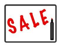 Ilustración de la muestra de la venta de la tarjeta de la etiqueta de plástico - etiqueta de plástico roja Foto de archivo libre de regalías