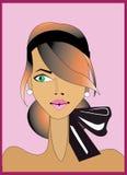 Ilustración de la mujer ilustración del vector