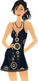 Ilustración de la mujer de la elegancia Foto de archivo