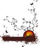 Ilustración de la naturaleza y de las vides stock de ilustración
