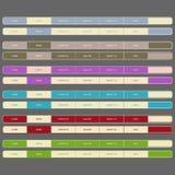 Ilustración de la navegación Bar.vector de los elementos del Web. Fotografía de archivo libre de regalías