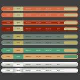 Ilustración de la navegación Bar.vector de los elementos del Web. Fotografía de archivo