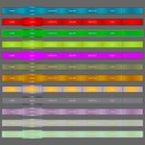 Ilustración de la navegación Bar.vector de los elementos del Web. Fotos de archivo libres de regalías