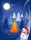 Ilustración de la Navidad - bola de nieve Fotografía de archivo