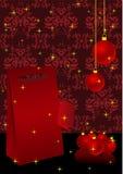 Ilustración de la Navidad con el actual rectángulo ilustración del vector