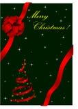 Ilustración de la Navidad con el arqueamiento rojo ilustración del vector