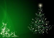 Ilustración de la Navidad con el copo de nieve Imagen de archivo