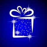 Ilustración de la Navidad con el rectángulo de regalo. Imágenes de archivo libres de regalías