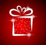 Ilustración de la Navidad con el rectángulo de regalo. Imagen de archivo