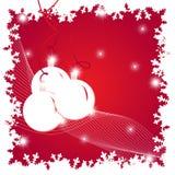 Ilustración de la Navidad con las bolas Imágenes de archivo libres de regalías