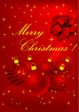 Ilustración de la Navidad con los elementos detallados stock de ilustración