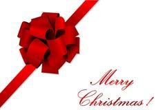 Ilustración de la Navidad de una cinta roja stock de ilustración