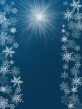 Ilustración de la Navidad en fondo azul ilustración del vector
