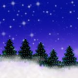 Ilustración de la noche estrellada Fotos de archivo libres de regalías
