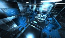 ilustración de la oficina de la tecnología 3d Fotos de archivo