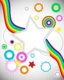 Ilustración de la onda del arco iris Foto de archivo