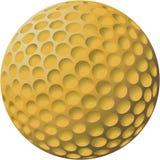 Ilustración de la pelota de golf del oro Fotografía de archivo libre de regalías