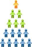 Ilustración de la pirámide de gerencia de la jerarquía Imagenes de archivo