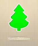 Ilustración de la postal de la Feliz Navidad Imagenes de archivo