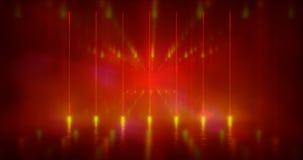 ilustración de la representación 3d La ciencia ficción futurista resume formas ligeras de neón rojas y púrpuras en fondo negro y  libre illustration