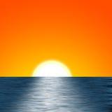 Ilustración de la salida del sol Imagen de archivo libre de regalías