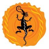 Ilustración de la silueta del dragón stock de ilustración