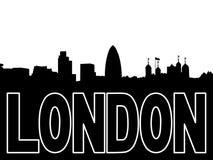 Ilustración de la silueta del horizonte de Londres Imagenes de archivo