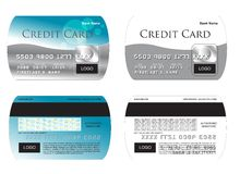 ilustración de la tarjeta de crédito del vector Imágenes de archivo libres de regalías