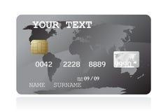 Ilustración de la tarjeta de crédito gris Imagen de archivo