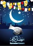 Ilustración de la tarjeta de felicitación de Ramadan Imagenes de archivo