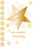 Ilustración de la tarjeta de la Feliz Año Nuevo Imagenes de archivo